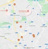 Carte digitale des travaux à Jette