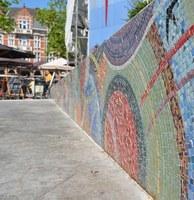 Les mosaïques place Cardinal Mercier