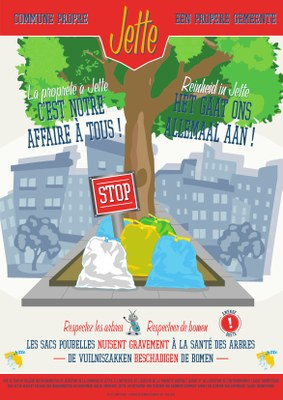 Affiche bomen vuilniszakken
