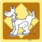 Hondentoilet geel