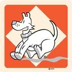 Hondentoilet rood verboden toegang
