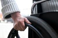 Close up van een rolstoel