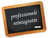 Bord met 'professionele reïntegratie' in krijt